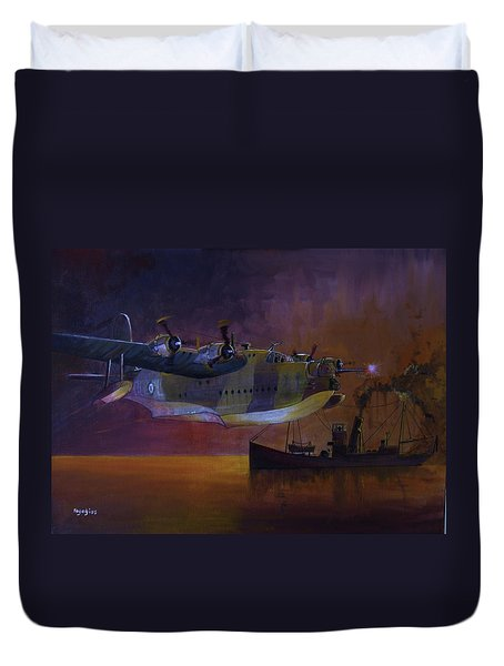 Duty Done Duvet Cover by Ray Agius