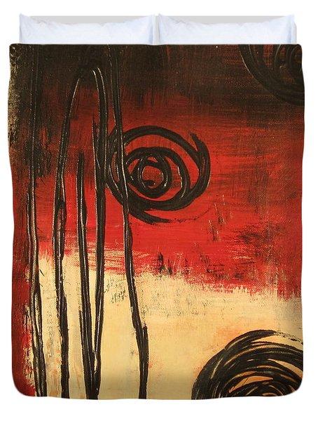 Dynamic Red 1 Duvet Cover