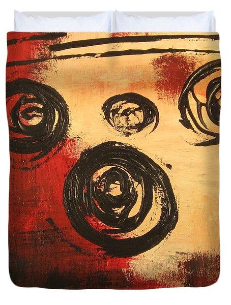 Dynamic Red 2 Duvet Cover