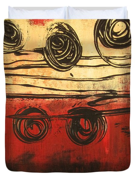 Dynamic Red 3 Duvet Cover