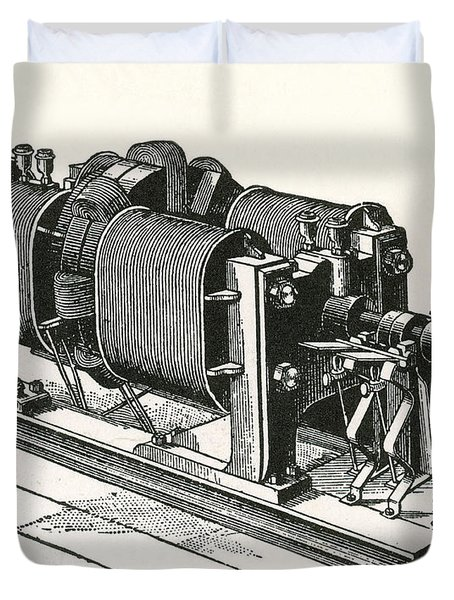 Dynamo Electric Machine Duvet Cover by Science Source