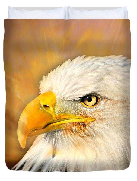 Eagle Burst Duvet Cover by Marty Koch