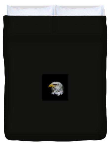 Eagle Head Duvet Cover by Steve McKinzie