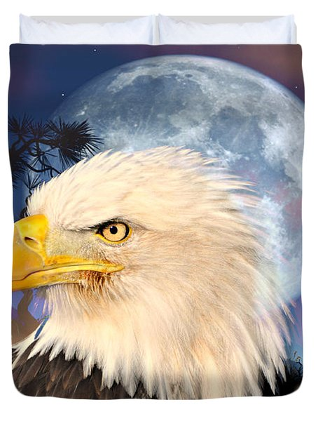 Eagle Moon Duvet Cover by Marty Koch