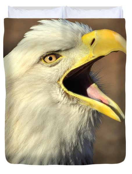 Eagle Squawk Duvet Cover by Marty Koch