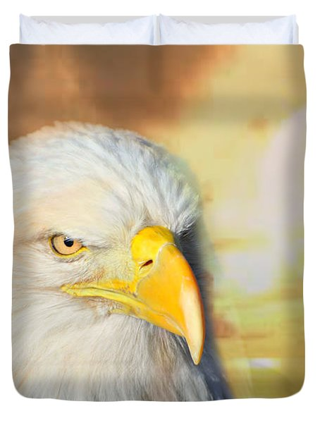 Eagle Sun Duvet Cover by Marty Koch
