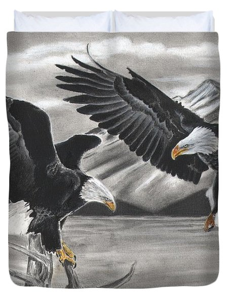 Eagles Duvet Cover by Christian Conner