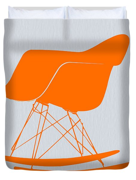 Eames Rocking Chair Orange Duvet Cover
