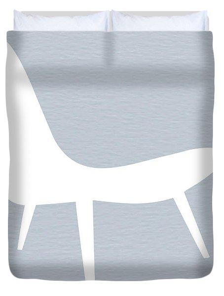 Eames White Chair Duvet Cover by Naxart Studio
