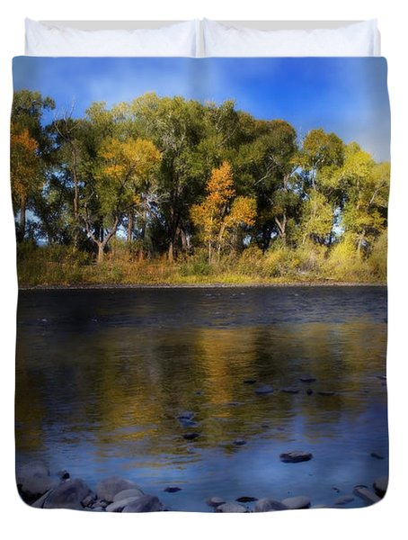 Early Fall At The Headwaters Of The Rio Grande Duvet Cover