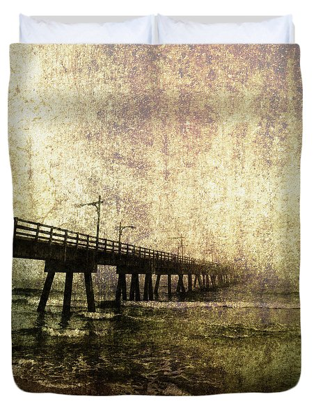 Early Morning Pier Duvet Cover by Skip Nall