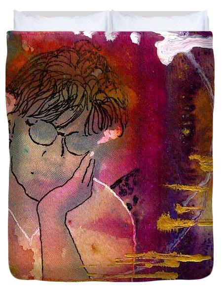 Early Morning Songwriter Duvet Cover by Angela L Walker
