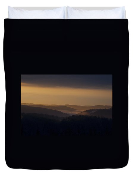 Early Morning Sunrise Duvet Cover