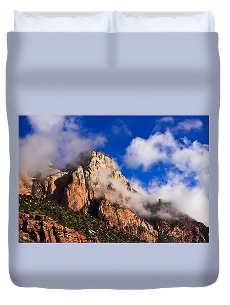 Early Morning Zion National Park Duvet Cover