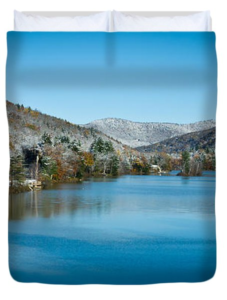 Early Snow In Vermont Duvet Cover by Edward Fielding