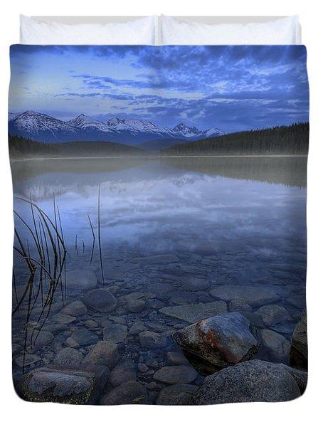 Early Summer Morning On Patricia Lake Duvet Cover by Dan Jurak