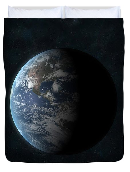 Earth Duvet Cover by Carbon Lotus