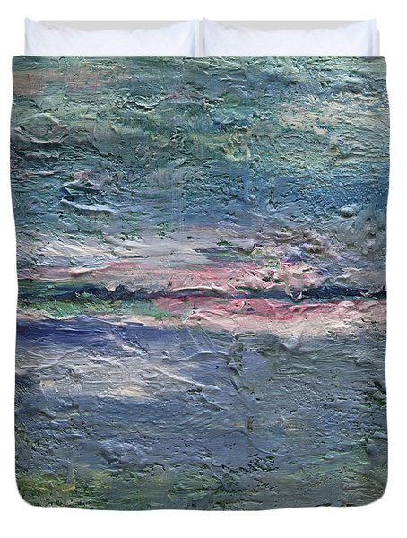 Duvet Cover featuring the painting Earthen Series 25 by Dolores  Deal
