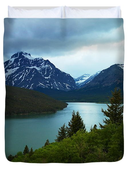 East Glacier Duvet Cover by Jeff Swan