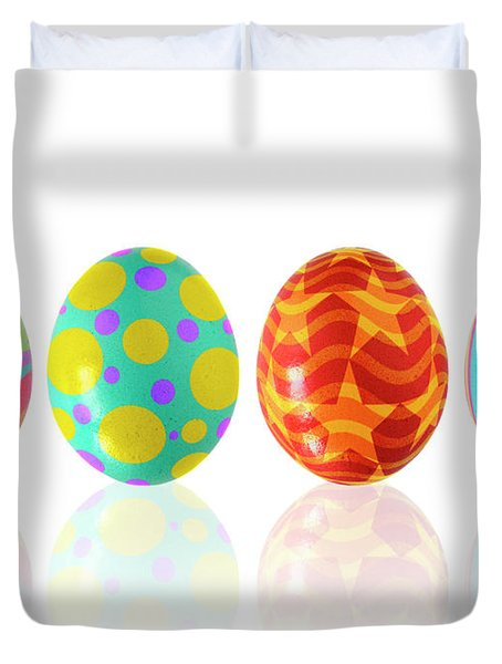 Easter Eggs Duvet Cover by Carlos Caetano