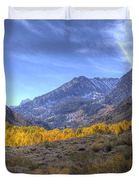 Eastern Sierras In Fall Duvet Cover by Michele Cornelius