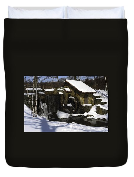 Eastern University Waterwheel Historic Place Duvet Cover