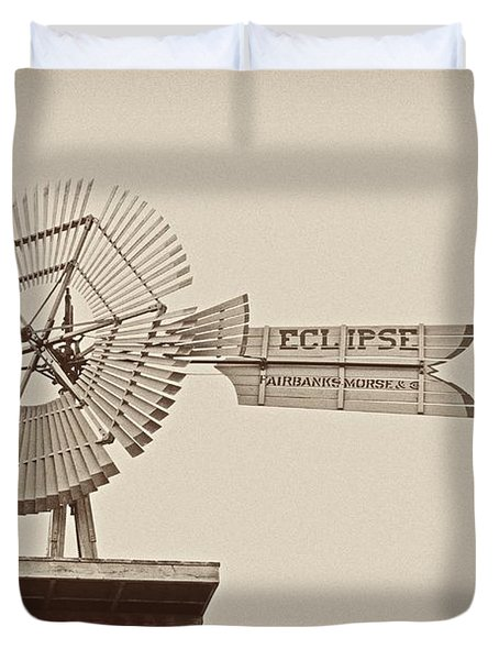 Eclipse Windmill 3578 Duvet Cover by Michael Peychich