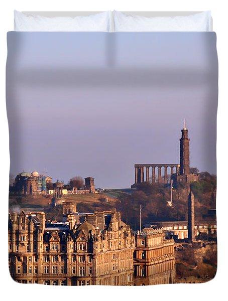 Edinburgh Scotland - A Top-class European City Duvet Cover by Christine Till