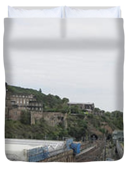 Edinburgh Station Panorama Duvet Cover