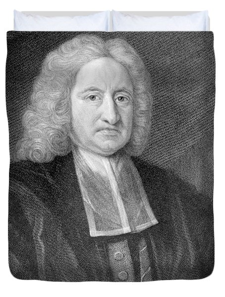 Edmond Halley, English Polymath Duvet Cover by Photo Researchers