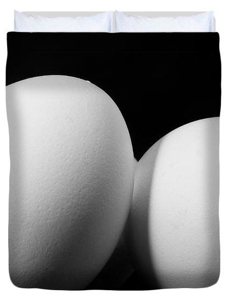 Eggs In Black And White Duvet Cover