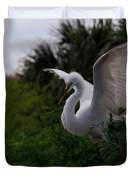 Egret Wings Duvet Cover