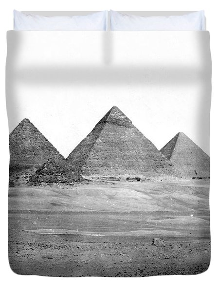 Egyptian Pyramids - C 1901 Duvet Cover by International  Images