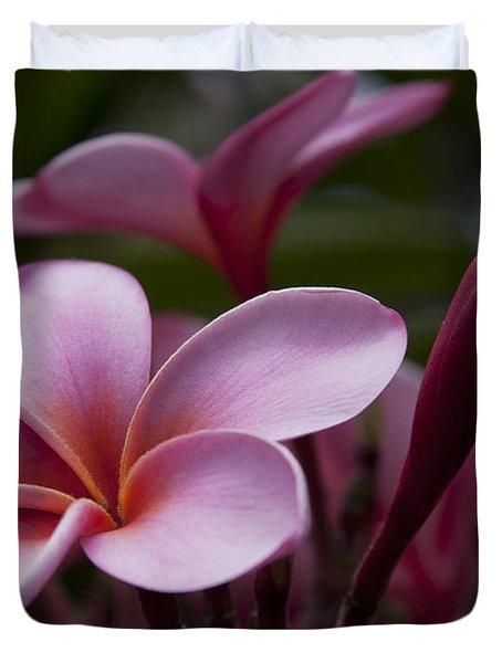 Eia Ku'u Lei Aloha Kula - Pua Melia - Pink Tropical Plumeria Maui Hawaii Duvet Cover by Sharon Mau