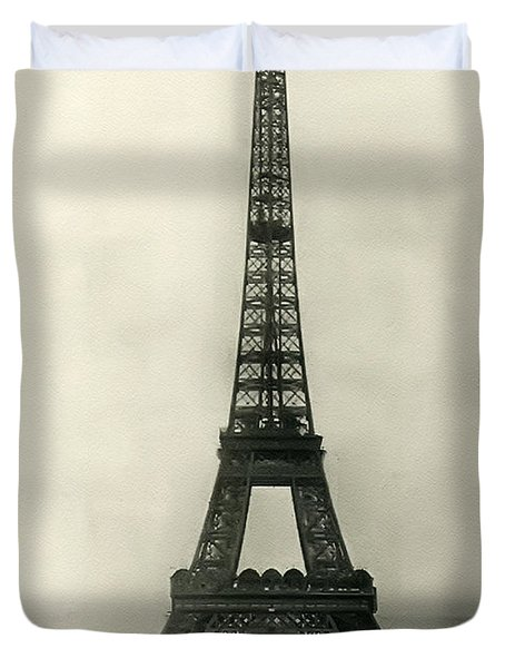Eiffel Tower 1890 Duvet Cover by Bill Cannon
