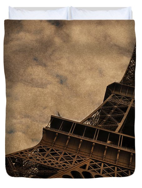 Eiffel Tower 2 Duvet Cover by Mary Machare