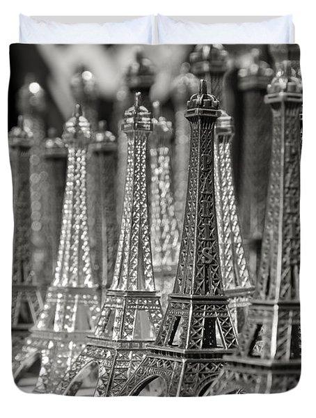 Eiffel Tower Miniature Duvet Cover