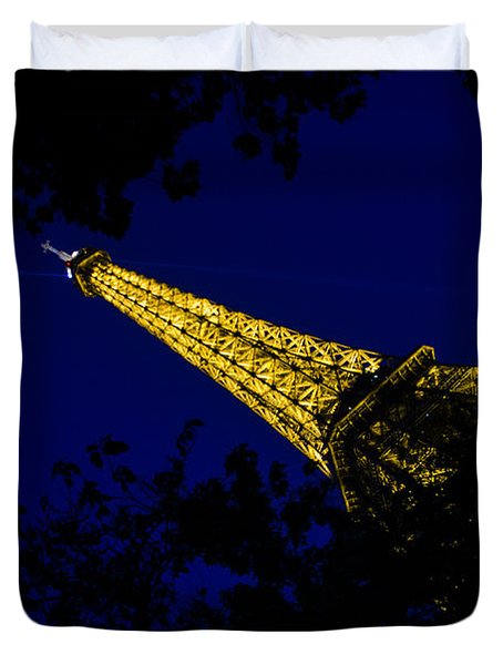 Duvet Cover featuring the photograph Eiffel's Magnificence by Marta Cavazos-Hernandez