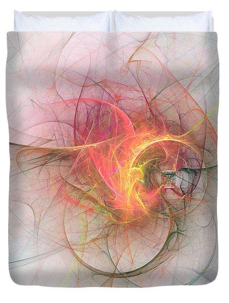Electric Blossom Duvet Cover