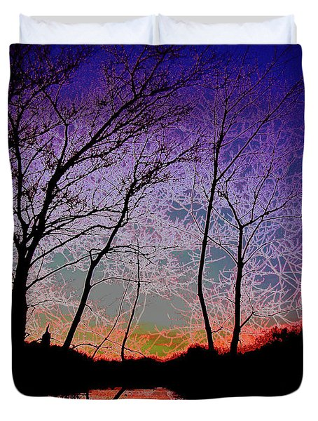 Electric Evening Duvet Cover
