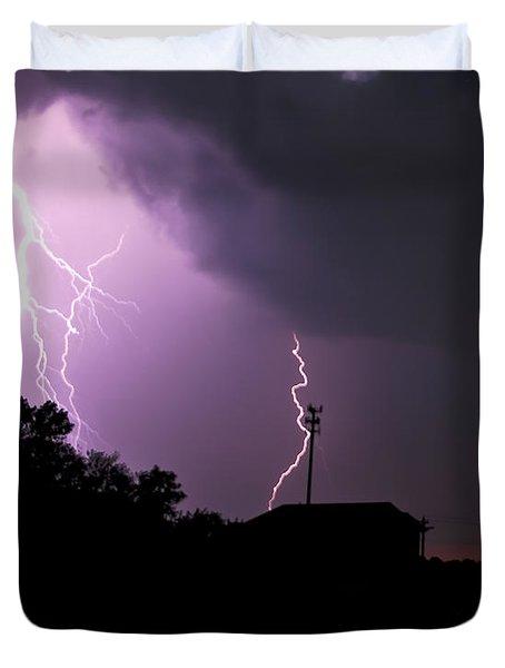 Electrifying Sky  Duvet Cover