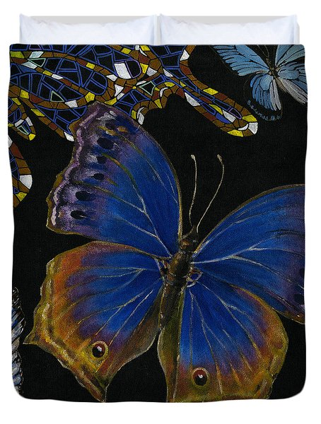 Elena Yakubovich - Butterfly 2x2 Lower Right Corner Duvet Cover by Elena Yakubovich