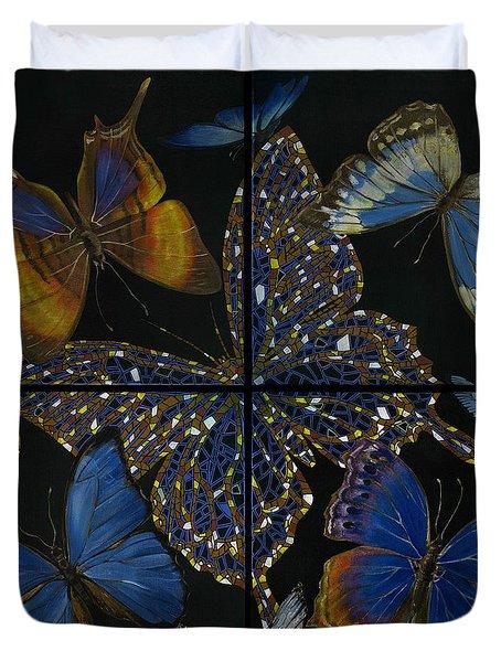 Elena Yakubovich Butterfly 2x2 Duvet Cover by Elena Yakubovich