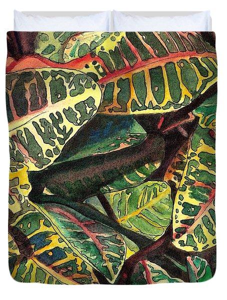 Elena's Crotons Duvet Cover