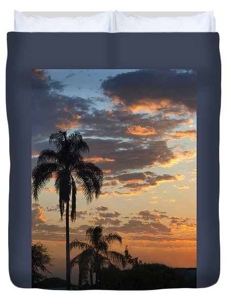 Duvet Cover featuring the photograph Ellery Sunrise by Joe Schofield