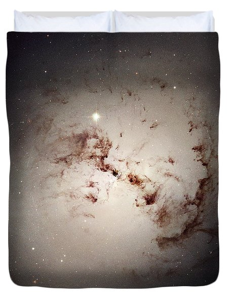 Elliptical Galaxy Ngc 1316, Hst Image Duvet Cover by NASA / ESA / Space Telescope Science Institute