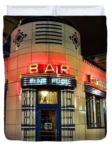 Elwood Bar And Grill Detroit Michigan Duvet Cover by Gordon Dean II