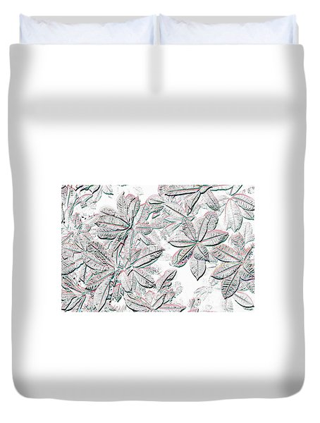Duvet Cover featuring the photograph Embossed Crotons by Tom Wurl
