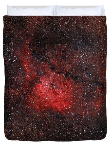 Emission Nebula Ngc 6820 Duvet Cover by Rolf Geissinger