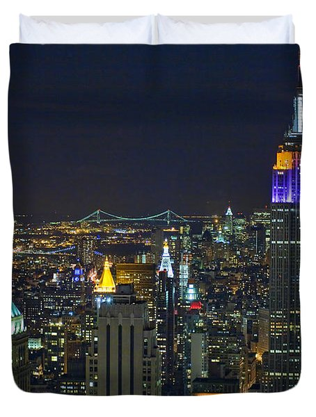 Empire State At Night Duvet Cover
